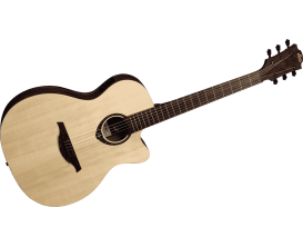 LAG T270 ASCE - Guitare électro-acoustique, Format Auditorium Slim, Naturel