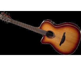 LAG TL100ASCE-BRS - Guitare Slim Auditorium Electro, modèle GAUCHER, préampli Studio Lag, Finition Brown Sunburst