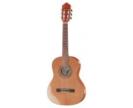 HOFNER Carmencita 504 3/4 - Guitare Classique 3/4 étude, table massive cèdre, Corps et manche Acajou, mécaniques Gold