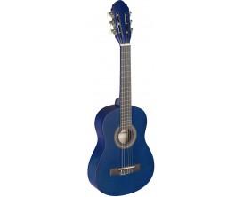STAGG - C405 M Blue - Guitare classique 1/4 bleue avec table en tilleul