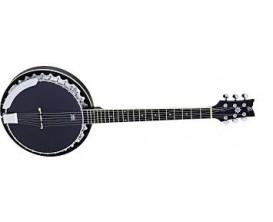 ORTEGA OBJ350/6-SBK - Banjo 6 cordes Noir Satiné, en gig bag