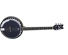 ORTEGA OBJE350/6-SBK - Banjo 6 cordes Electro, Noir Satiné, en gig bag