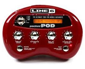 LINE6 Pocket POD Portable desktop guitar preamplifier