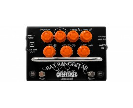 ORANGE Bax Bangeetar - Custom Shop Handmade in UK, Preamp pedal with EQ and Overdrive, Cab Simulation (Black)