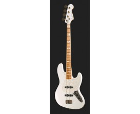 FENDER CUSTOM SHOP Jazz Bass Custom Classic, NOS, MN, Artic White tête matchée (9238001814) *