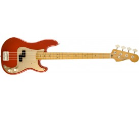 FENDER 0131702340 - '50s Precision Bass, MN, Fiesta Red, Gold Anodized Aluminum Pickguard (Deluxe Bag)