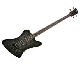 SPECTOR LG4XCLS - Basse Active 4 cordes Legend 4x Classic, Manche vissé en érable, table érable flammée, Noir translucide