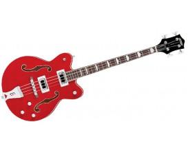 GRETSCH G5442 BDC - Basse 4 cordes Hollowbody, Série Electromatic, Transparent Red