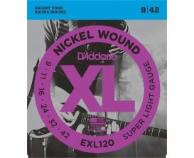 D'ADDARIO EXL120 SUPER LIGHT 9-11-16-24-32-42