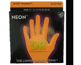 DR NOE-11 Jeu de Cordes guitare électrique 11/50 - Coloris Neon Orange