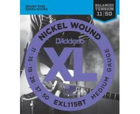 D'ADDARIO EXL115BT MEDIUM BALANCE TENSION 11-15-19-28-37-50