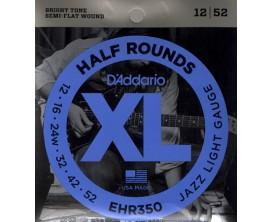 D'ADDARIO EHR350 - Jeu de cordes Demi-Rond Guitare Electrique JAZZ LIGHT 12/52