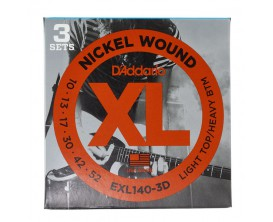 D'ADDARIO EXL140-3D - Pack 3 jeux EXL140 LIGHT 10-13-17-30-42-52