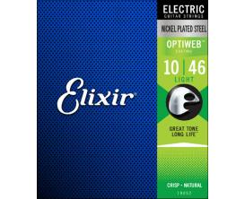 ELIXIR 19052 Optiweb - Jeu de cordes électrique 10/46 Light