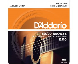 D'ADDARIO EJ10 BRONZE 80/20 X-LIGHT 10-14-23-30-39-47
