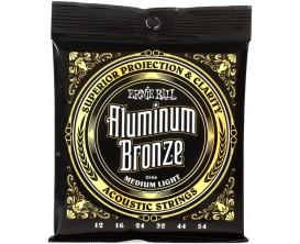ERNIE BALL 2566 - Aluminium Bronze Medium Light 12/54 *