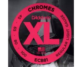 D'ADDARIO ECB81 BASSE CHROMES SOFT 45-65-80-100