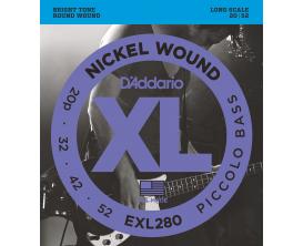 D'ADDARIO EXL280 Piccolo Bass 20p-32-42-52 Long Scale