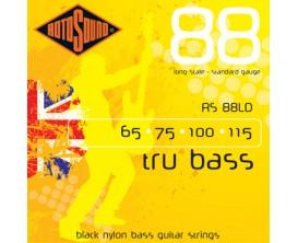 ROTOSOUND RS88 LD Tru Bass - Cordes basse 4 c - Black Nylon, tirant 65/115