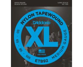 D'ADDARIO ETB92 - Jeu de cordes basses 4c Black Nylon 50/105
