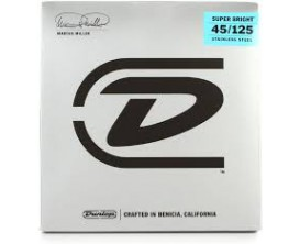 DUNLOP DBMMS45125 - Jeu de cordes basse 5c, tirant 45-65-85-105-125, Signature Marcus Miller