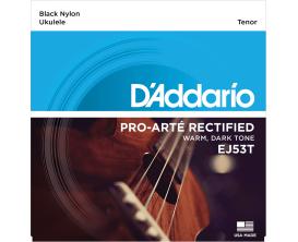 D'ADDARIO EJ53T Jeu cordes ukulélé Pro Arté Nylon Rectifié - Ténor / Nylon Noir 28-36-35-32