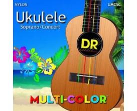 DR UMCSC - Jeu de cordes multicolore Ukulélé Soprano ou Concert
