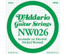D'ADDARIO NW026 026 FILE ROND NICKEL