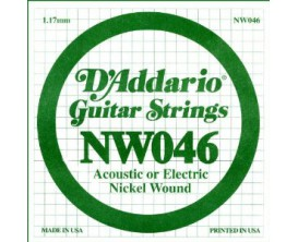 D'ADDARIO NW046 046 FILE ROND NICKEL