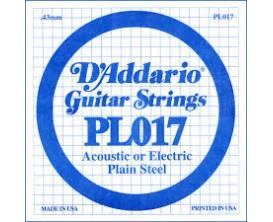 D'ADDARIO PL017 017 ACIER PLEIN