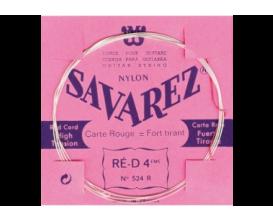 SAVAREZ - 524R Ré 4ème Rouge, Filé Métal Argenté