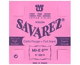 SAVAREZ - 526R Mi 6ème Rouge, Filé étal Argenté