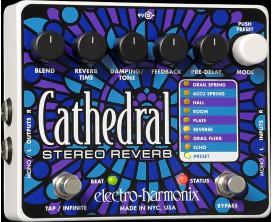 ELECTRO-HARMONIX Cathedral - Deluxe Stereo Reverb - Série XO (Alim 9.6DC-200 fournie)