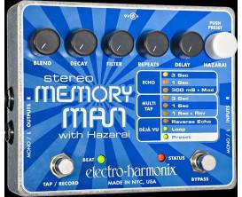 ELECTRO-HARMONIX Stereo Memory Man w/Hazarai - Digital Delay/Looper - Série XO