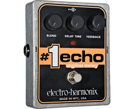 ELECTRO-HARMONIX 1 ECHO Digital Delay - Série XO (Alim 9.6DC-200 fournie)