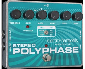ELECTRO-HARMONIX Stereo Polyphase - Analog Optical Envelope/LFO Phase Shifter - Série XO